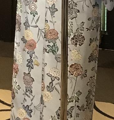 11周年・着にくかった菊の紬・ペイズリー柄の八寸帯。_f0181251_17013941.jpg