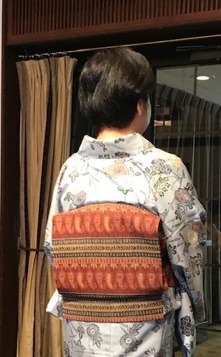 11周年・着にくかった菊の紬・ペイズリー柄の八寸帯。_f0181251_17053164.jpg