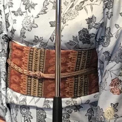 11周年・着にくかった菊の紬・ペイズリー柄の八寸帯。_f0181251_17392310.jpg