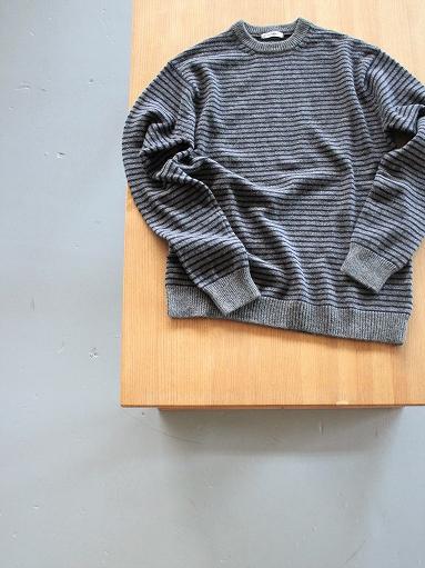 ANSPINNEN Fine Soft Cashmere Crew Neck Border Sweater_b0139281_16421491.jpg