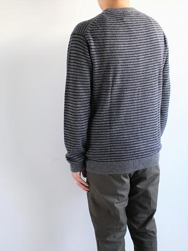ANSPINNEN Fine Soft Cashmere Crew Neck Border Sweater_b0139281_16431626.jpg
