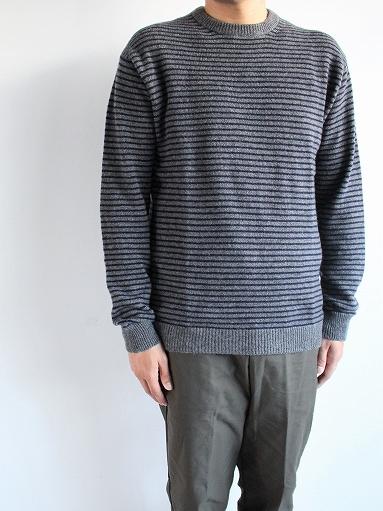 ANSPINNEN Fine Soft Cashmere Crew Neck Border Sweater_b0139281_1643538.jpg