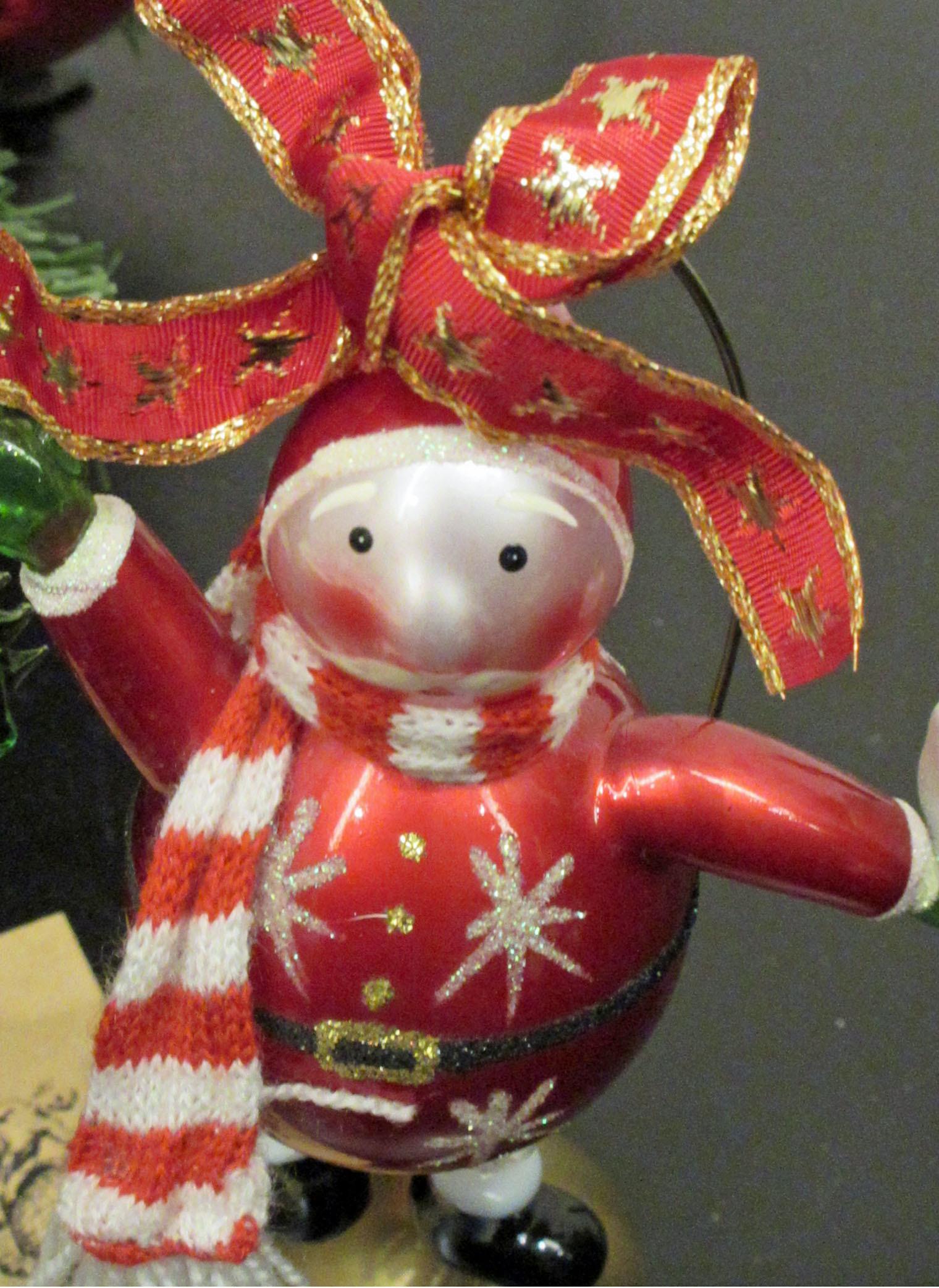 ちょっと早めのクリスマス気分。リース;にもみの木&オーナメント_e0341401_01004060.jpg