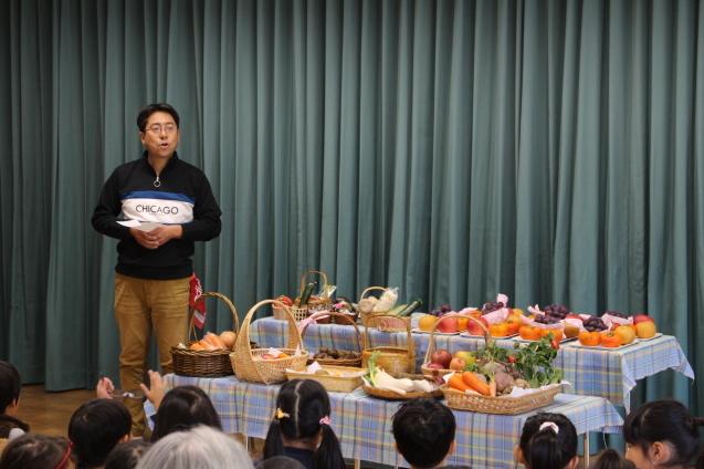 収穫感謝礼拝 と 焼き芋_e0209845_09462517.jpg