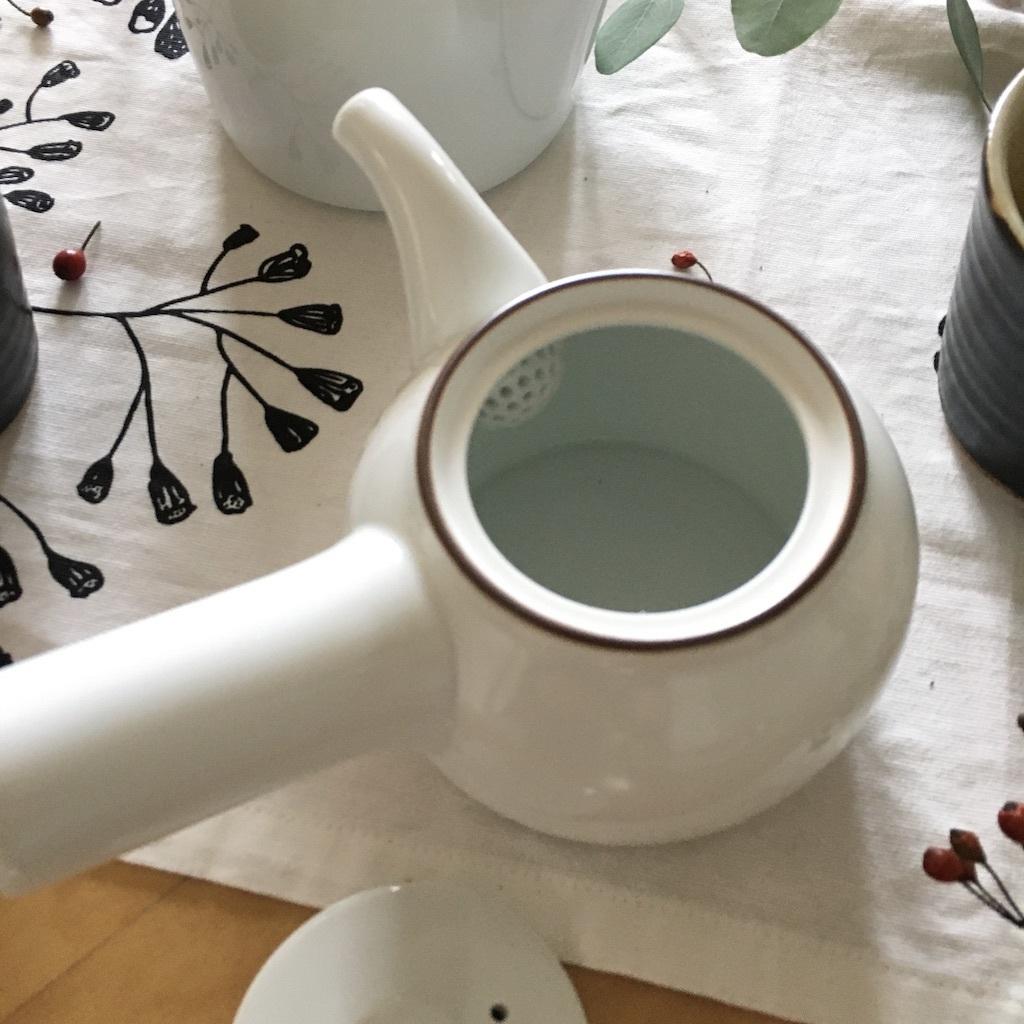 白山陶器の急須とポット_c0334574_18462682.jpg