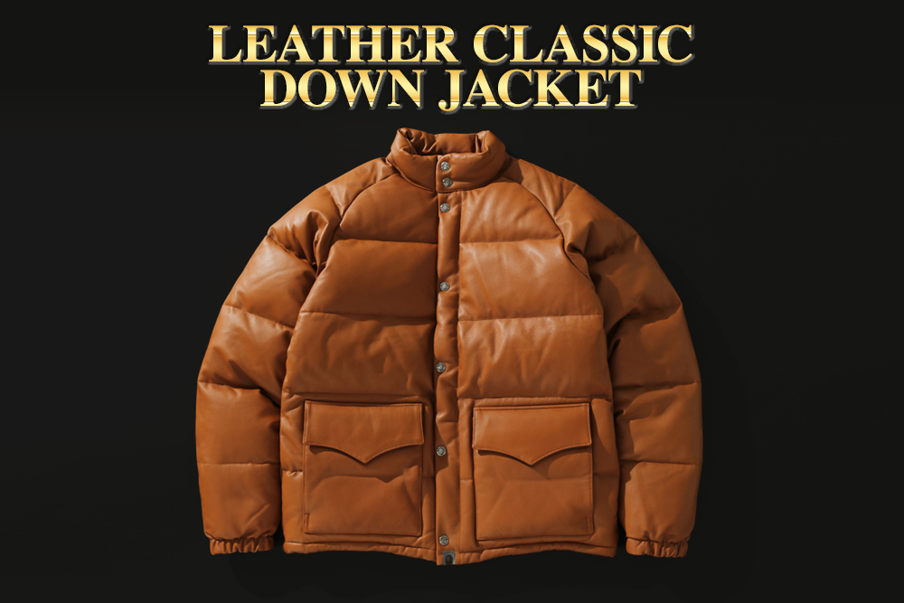 LEATHER CLASSIC DOWN JACKET_a0174495_12230763.jpg
