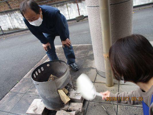 11/27 炊き出し訓練_a0154110_15590910.jpg