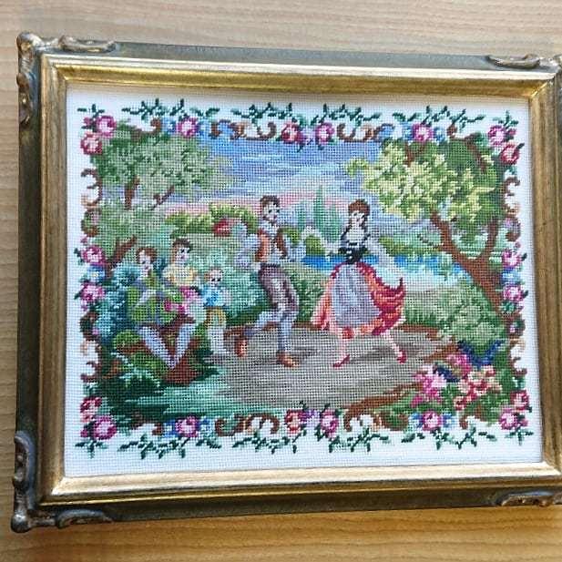 プチポアン刺繍協会作品展 at 京王プラザホテルロビーギャラリー_f0361510_14315099.jpg