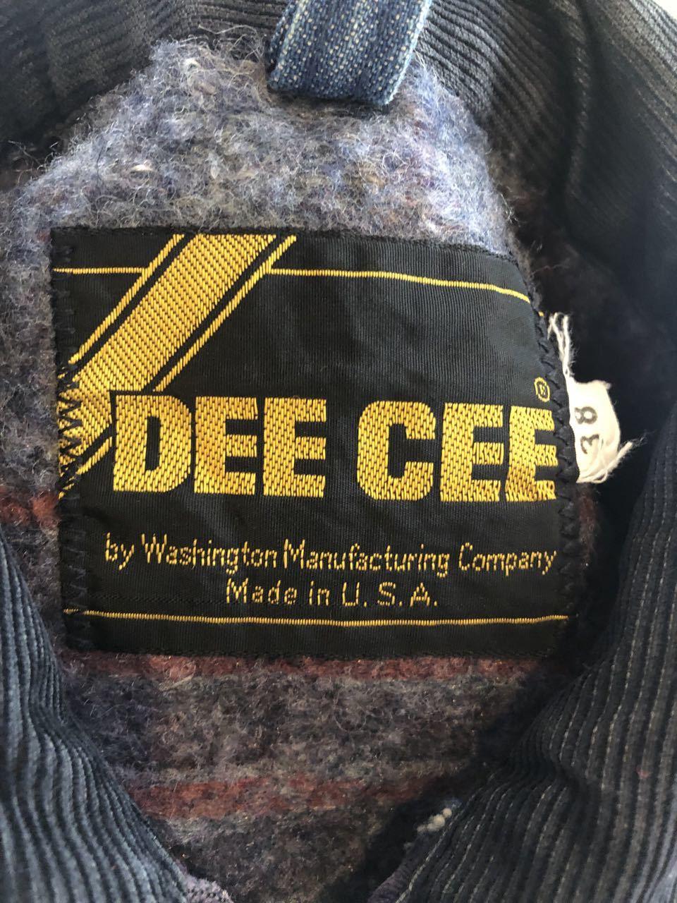 11月24日(木)入荷! 70s DEE CEE Denim Work Jacket!!_c0144020_12502417.jpg