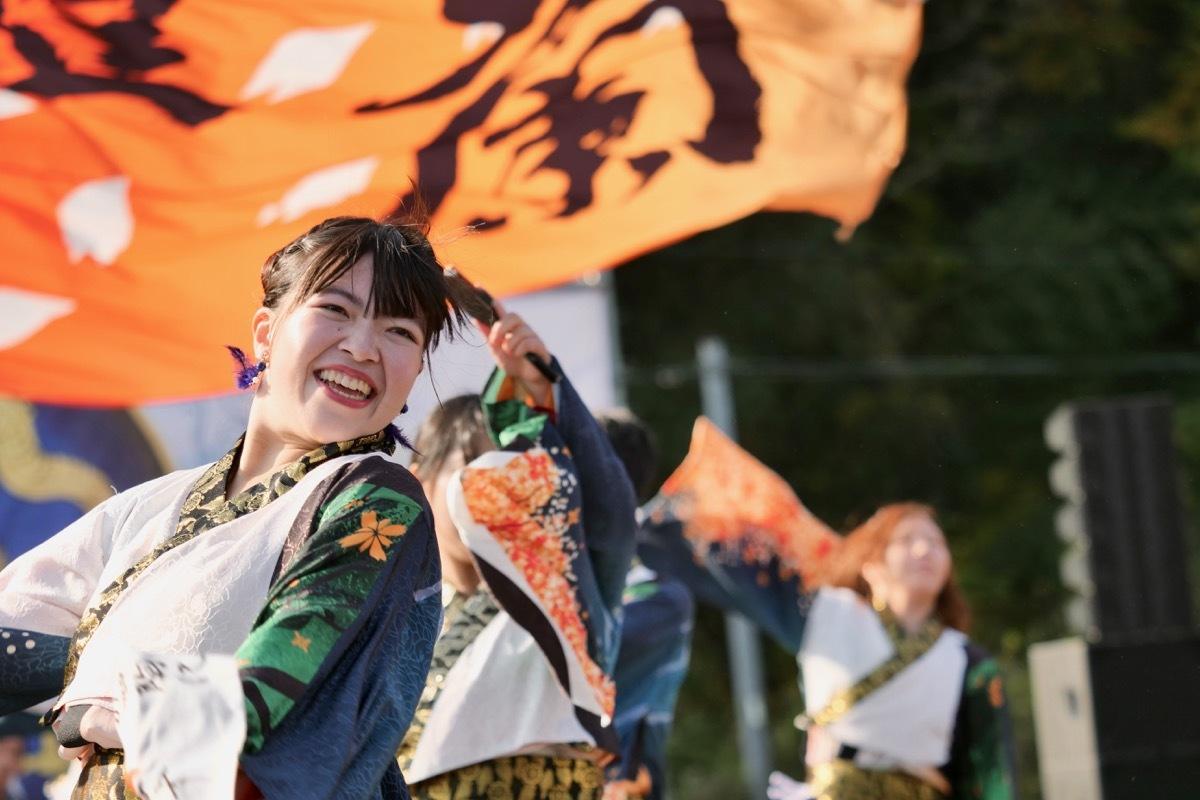 2018日原らっせによさこい祭りその5(よさこい橙蘭その1)_a0009554_23490183.jpg