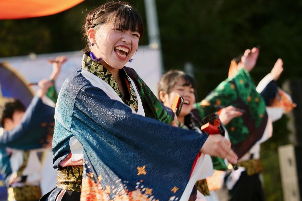 2018日原らっせによさこい祭りその5(よさこい橙蘭その1)_a0009554_23490903.jpg