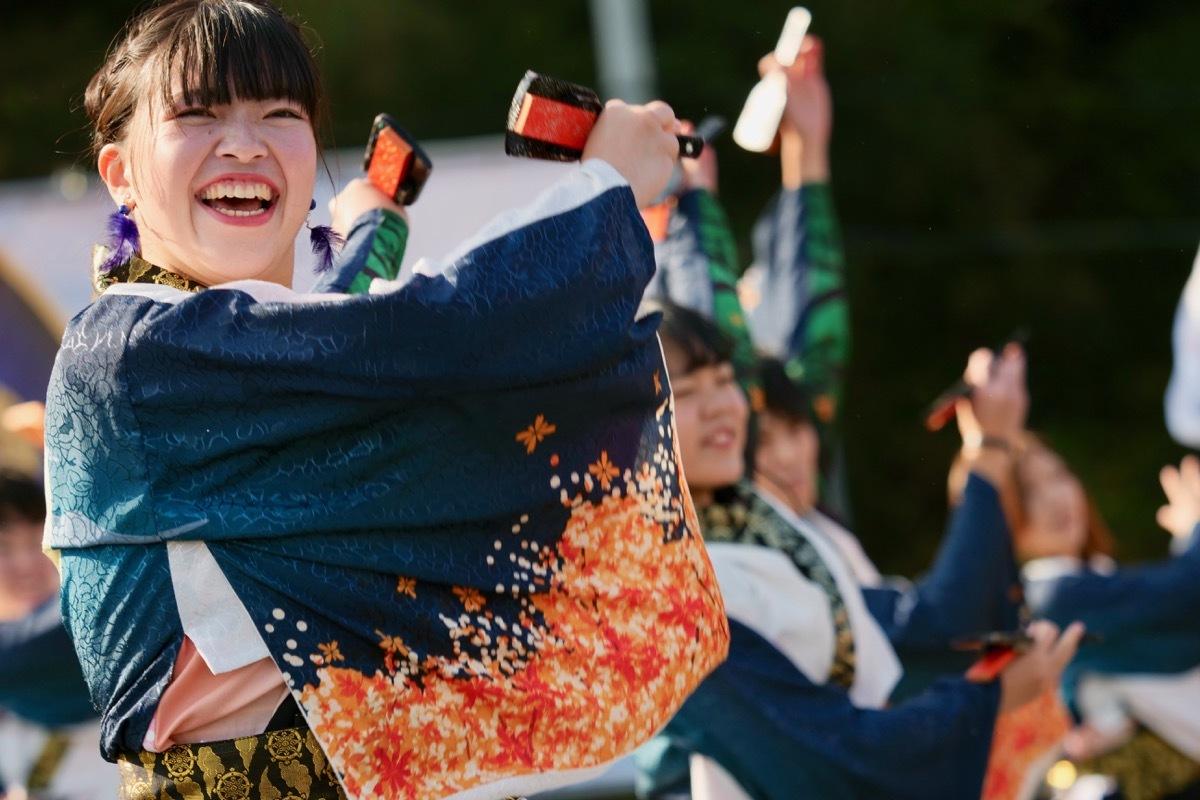 2018日原らっせによさこい祭りその5(よさこい橙蘭その1)_a0009554_23490948.jpg