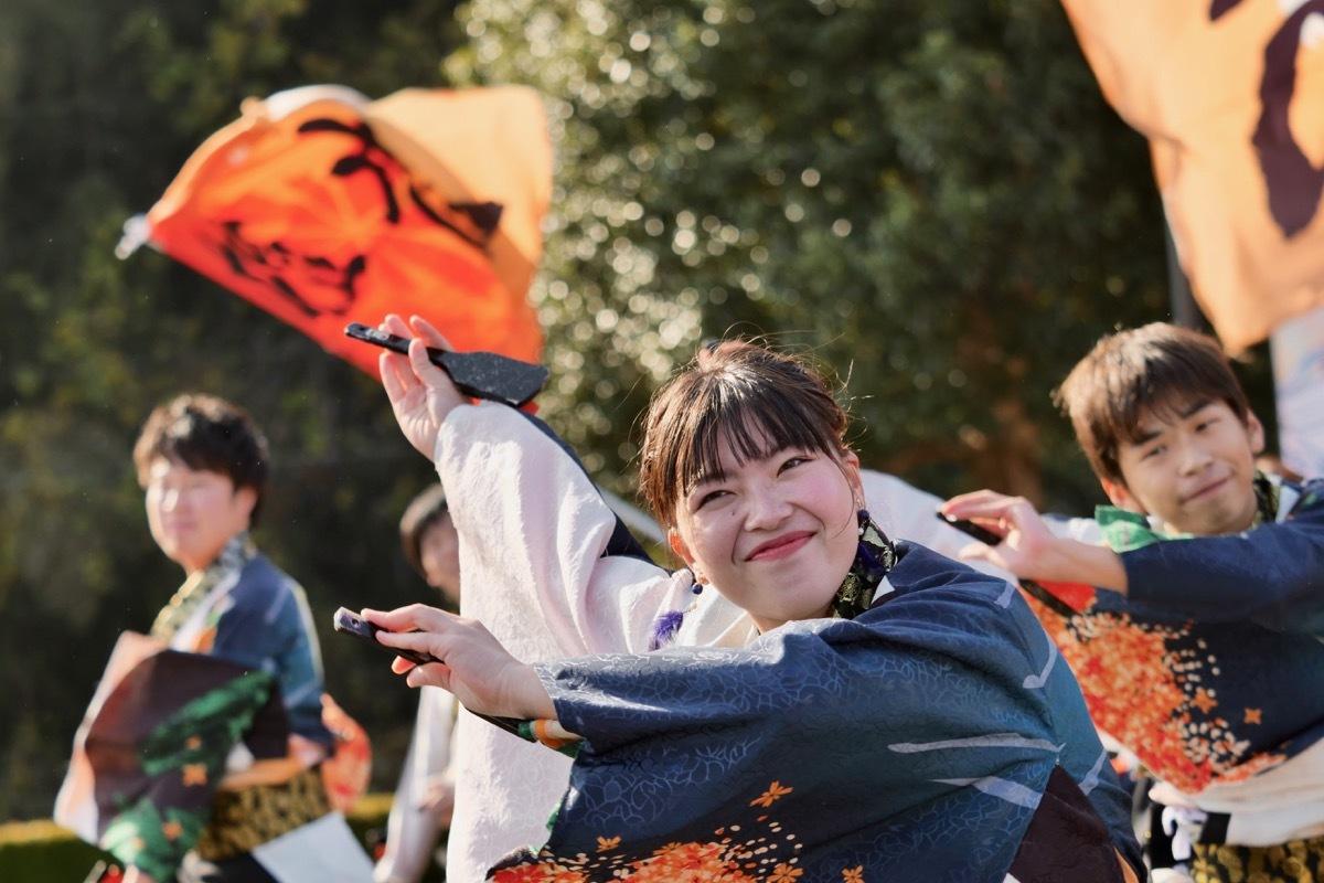 2018日原らっせによさこい祭りその5(よさこい橙蘭その1)_a0009554_23515914.jpg