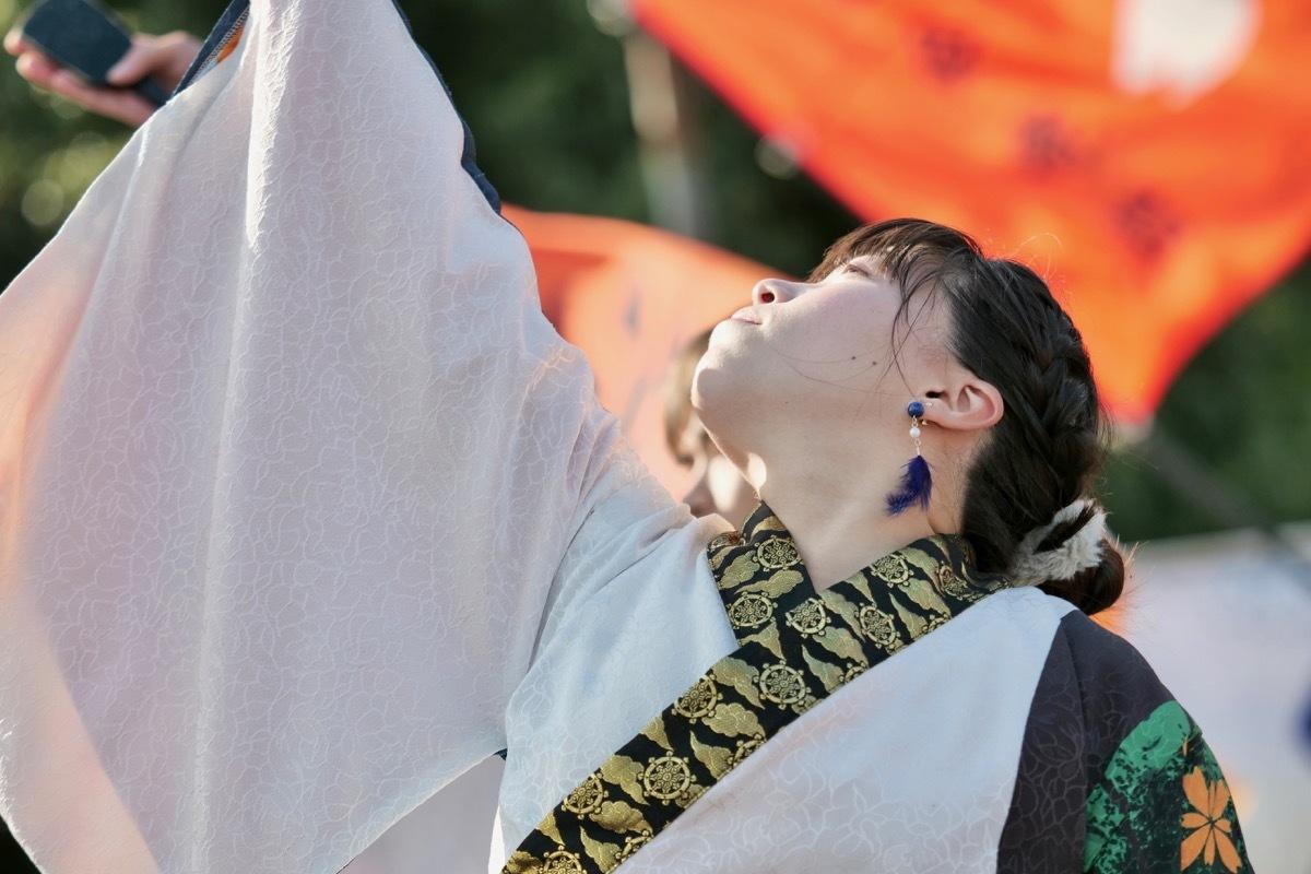 2018日原らっせによさこい祭りその5(よさこい橙蘭その1)_a0009554_23525385.jpg