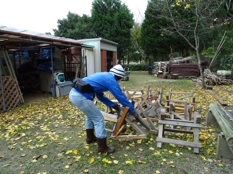 木枯らしが吹き荒れても 作業はする・・・うみべの森_c0108460_15004802.jpg