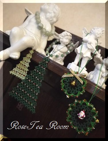 可愛い! タティングレースクリスマスオーナメント~♪_a0159974_75224100.jpg