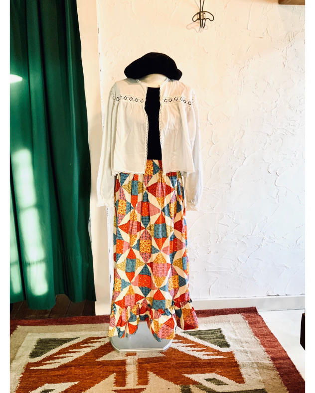 【VINTAGE】NEW! PATCHWORK MAXI SKIRT_d0000298_17260672.jpg