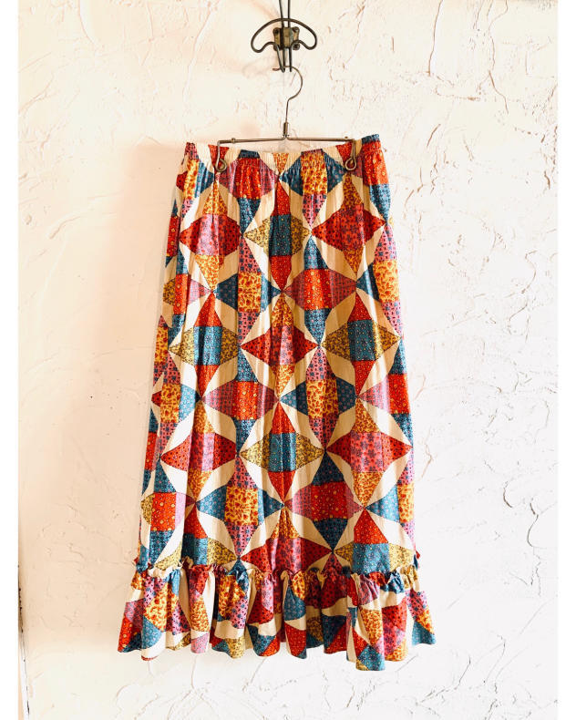 【VINTAGE】NEW! PATCHWORK MAXI SKIRT_d0000298_17291454.jpg