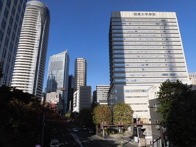 都心に建つ高層ビルがまぶしい! 富士市立中央病院に医師を送っていただいている慈恵会医科大学_f0141310_07341248.jpg