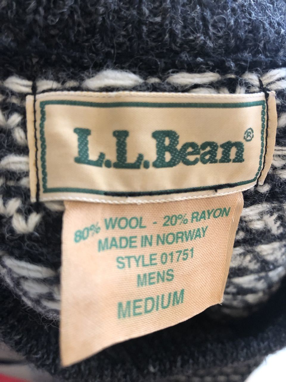 11月30日(土)入荷!MADE IN NORWAY L.L Bean バーズアイ セーター _c0144020_14010152.jpg