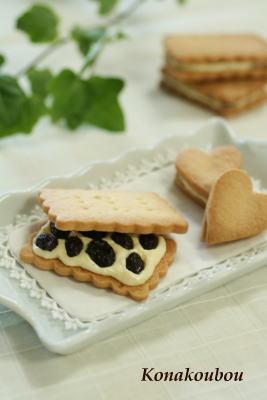 3月のお菓子・レーズンサンドクッキー_a0392423_01572078.jpg