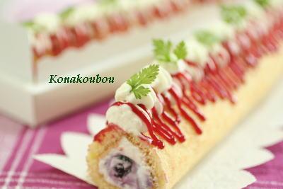 7月のお菓子・プチロールケーキ_a0392423_01581739.jpg