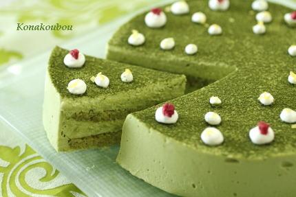 9月のお菓子・抹茶のチーズケーキ_a0392423_02005191.jpg
