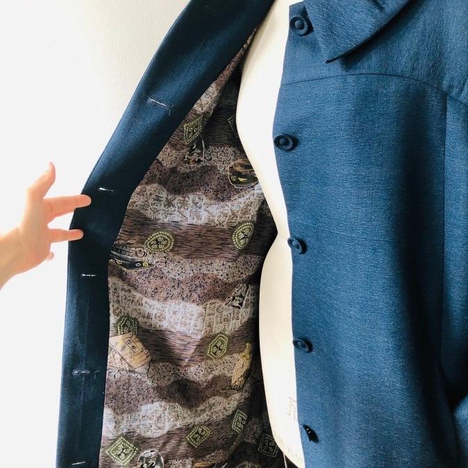 着物着物リメイク・ ウールのお着物から大きな襟コート_d0127925_16474179.jpg