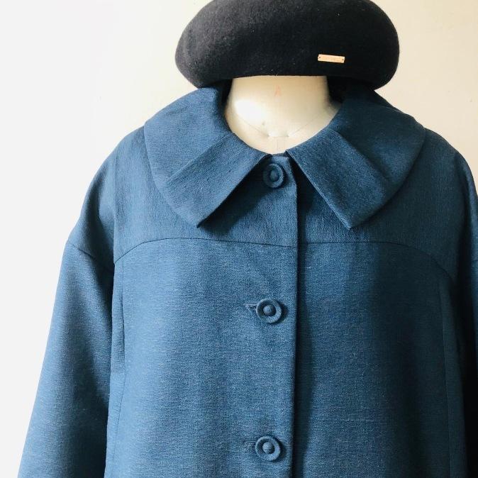 着物着物リメイク・ ウールのお着物から大きな襟コート_d0127925_16475462.jpg