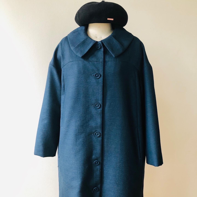 着物着物リメイク・ ウールのお着物から大きな襟コート_d0127925_16475845.jpg