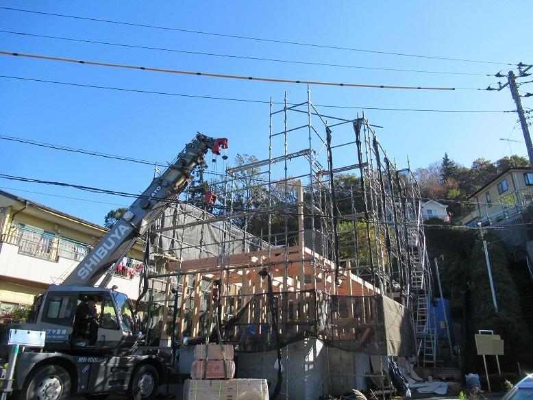 町田市相原の家☆快晴の上棟一日目_c0152341_22224612.jpg