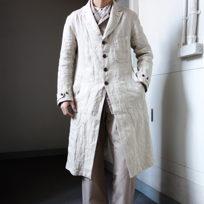 2月の製作 / anotherline heavylinen coat_e0130546_16341858.jpg