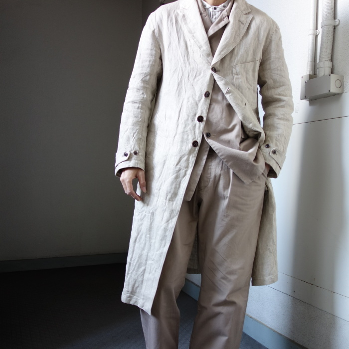 2月の製作 / anotherline heavylinen coat_e0130546_16345341.jpg