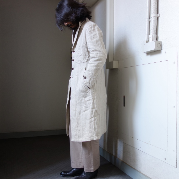 2月の製作 / anotherline heavylinen coat_e0130546_16352261.jpg