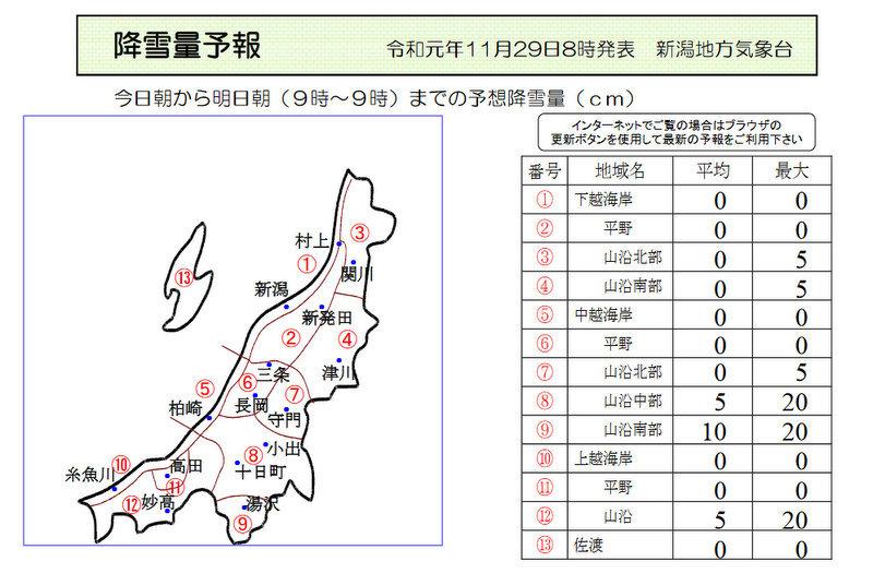 新潟県降雪量予報(2019年11月29日AM/PM)  追記あり_e0037849_08113991.jpg