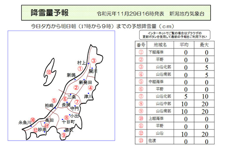 新潟県降雪量予報(2019年11月29日AM/PM)  追記あり_e0037849_16141026.jpg