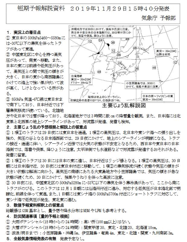 新潟県降雪量予報(2019年11月29日AM/PM)  追記あり_e0037849_22152039.png