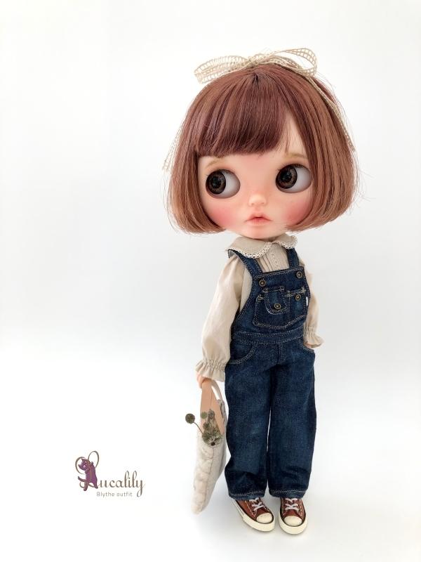 *lucalily * dolls clothes* Denim salopette pants *_d0217189_23482284.jpg