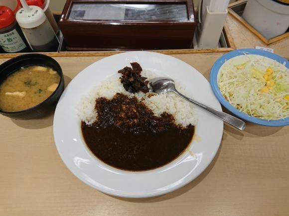 11/30 松屋 オリジナルカレー並 & 生野菜_b0042308_06515992.jpg