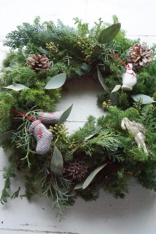 お孫さんへのクリスマスリース_b0151911_17463904.jpg