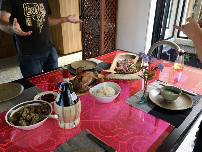 七面鳥ディナーとイラクサのスープ/ Turkey Roast and Nettle Soyp_e0310424_21055192.jpeg