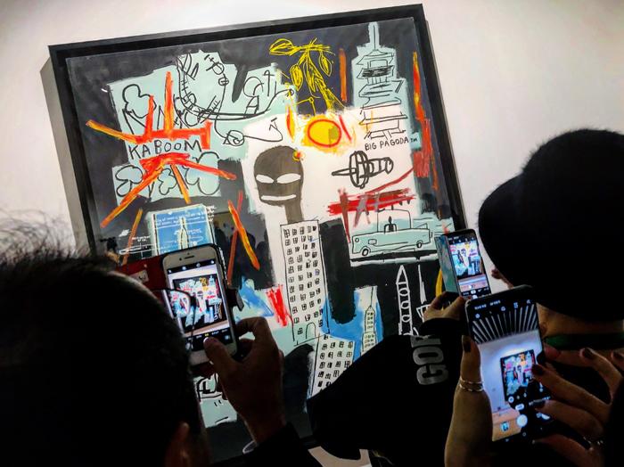 バスキア展 メイド・イン・ジャパン / 森アーツギャラリー / iPhone 8_c0334533_22574263.jpg