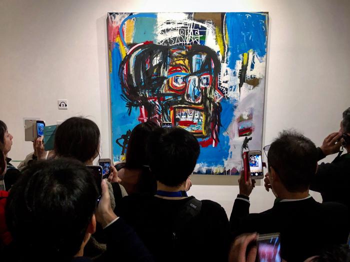 バスキア展 メイド・イン・ジャパン / 森アーツギャラリー / iPhone 8_c0334533_23032317.jpg