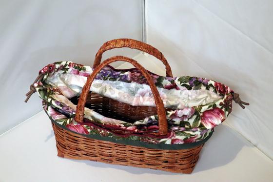 エコクラフト & 裁縫 ~ お買い物籠バッグ ~_e0222340_1558472.jpg