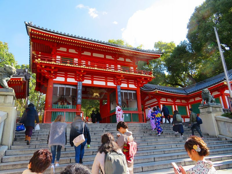 八坂神社の参拝20191129_e0237645_11270276.jpg