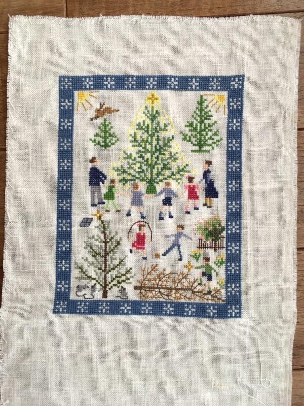 フレメ    クリスマスツリーを囲む人々  完成_a0374562_14192038.jpeg