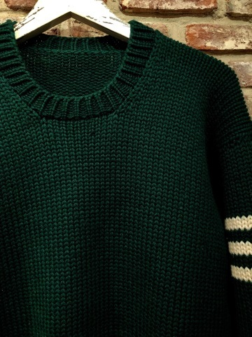"1940s "" UNKNOWN \"" ALL WOOL Vintage - SQUARE NECK - LOW-GAUGE SWEATER ._d0172088_20092946.jpg"
