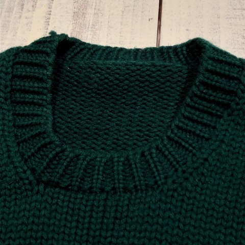 """1940s \"""" UNKNOWN \"""" ALL WOOL Vintage - SQUARE NECK - LOW-GAUGE SWEATER ._d0172088_21561003.jpg"""