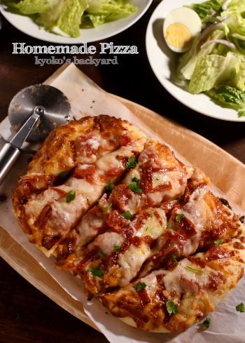 感謝祭前のふわふわピザ、サラダ、スープ_b0253205_06585062.jpg