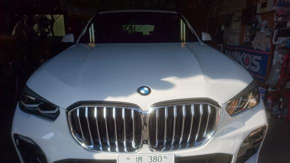 BMW X5 カーフィルム施工 リアルガラスコーティング 大阪 貝塚市_a0197623_09190894.jpg